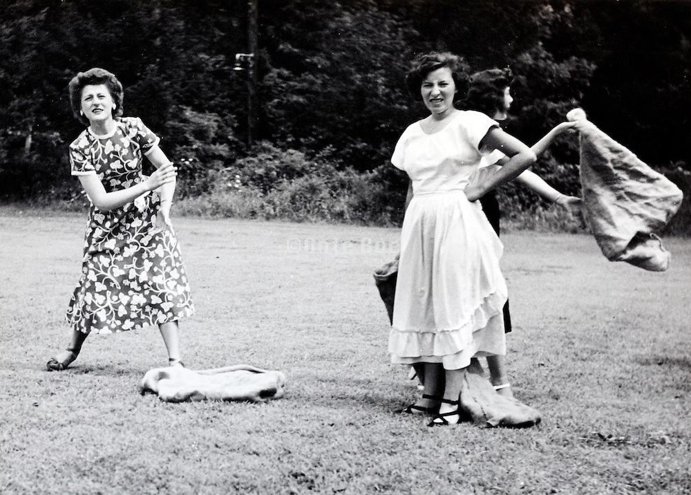 female employees on a sports recreational day USA 1940s