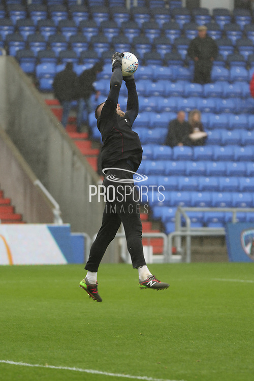 John Ruddy Oldham Goalkeeper warms up during the EFL Sky Bet League 1 match between Oldham Athletic and Scunthorpe United at Boundary Park, Oldham, England on 28 October 2017. Photo by George Franks.