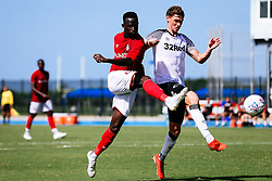 Saikou Janneh of Bristol City during the 2nd leg of the match after the previous day's game was abandoned at half time due to extreme weather - Rogan/JMP - 14/07/2019 - IMG Academy, Bradenton - Florida, USA - Bristol City v Derby County - Pre-Season Tour Day 3.