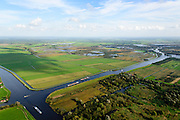 Nederland, Friesland, Alde Feanen, 10-10-2014;<br /> De Oude Venen, Kruiswaters. Kruising van de vaarwegen Lanhe Sloot en Prinses Margrietkanaal (links). Eernewoude aan de horizon.<br /> The old peatlands, Frisian peatland and bog, nature reserve.<br /> luchtfoto (toeslag op standard tarieven);<br /> aerial photo (additional fee required);<br /> copyright foto/photo Siebe Swart