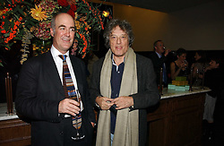 Left to right, CHARLES SAUMAREZ SMITH and SIR TOM STOPPARD at the opening of The National Cafe and an exclusive private view of the National Gallery's Valazquez Exhibition, at The National Gallery, Trafalgar Square, London on 26th October 2006.<br /><br />NON EXCLUSIVE - WORLD RIGHTS