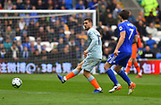 Mateo Kovacic (17) of Chelsea passes the ball during the Premier League match between Cardiff City and Chelsea at the Cardiff City Stadium, Cardiff, Wales on 31 March 2019.
