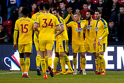 Max Meyer of Crystal Palace celebrates with teammates after scoring a goal to make it 2-0 - Mandatory by-line: Robbie Stephenson/JMP - 17/02/2019 - FOOTBALL - The Keepmoat Stadium - Doncaster, England - Doncaster Rovers v Crystal Palace - Emirates FA Cup fifth round proper
