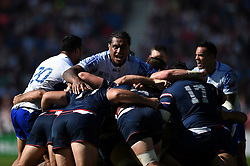 Filo Paulo of Samoa in action in a maul - Mandatory byline: Patrick Khachfe/JMP - 07966 386802 - 20/09/2015 - RUGBY UNION - Brighton Community Stadium - Brighton, England - Samoa v USA - Rugby World Cup 2015 Pool B.