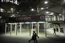 190518 Johannesburg. The Emirates Airlines Park lights golw early evening as supporters make their way out of the stadium after the Lions vs Brumbies game. Picture: Karen Sandison/African News Agency (ANA)