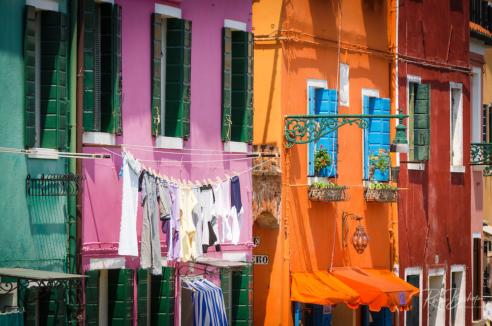 Colorful houses, Burano, Veneto, Italy