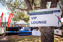 VIP Lounge during 1st Round of Qualifications at ATP Challenger Tilia Slovenia Open 2016, on August 6, 2016 in Portoroz/Portorose, Slovenia. Photo by Vid Ponikvar / Sportida