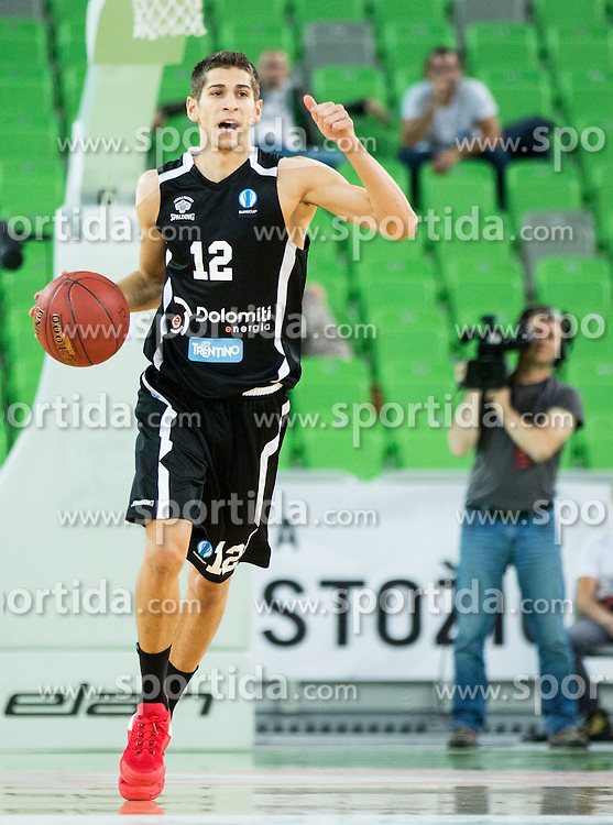 Diego Flaccadori of Trento during basketball match between KK Union Olimpija Ljubljana and Dolomiti Energia Trento (ITA) in Round #1 of EuroCup 2015/16, on October 14, 2015 in Arena Stozice, Ljubljana, Slovenia. Photo by Vid Ponikvar / Sportida