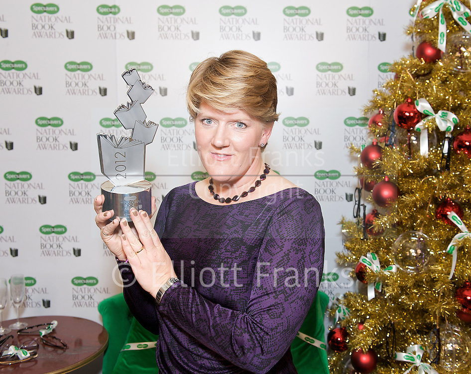 The Specsavers National Book Awards 2012 <br /> 4th December 2012 <br /> in Central London, Great Britain <br /> <br /> Hosted by Lorraine Kelly <br /> with Dame Mary Perkins (Specsavers)<br /> <br /> The winners in all categories:<br /> <br /> Autobiography/Biography of the Year<br /> My Animals and Other Family by Clare Balding (Viking Adult)<br /> <br /> Specsavers Popular Fiction Book of the Year<br /> Fifty Shades of Grey by E. L. James (Arrow)<br /> <br /> Crime Book of the Year available on iBookstore<br /> A Wanted Man by Lee Child (Bantam Press)<br /> <br /> Outstanding Achievement Award<br /> Ian Rankin<br /> <br /> WHSmith Food &amp; Drink Book of the Year<br /> The Hairy Dieters by Si King &amp; Dave Myers (Weidenfeld &amp; Nicholson)<br /> <br /> International Author of the Year in partnership with Google Play&trade;<br /> The Snow Child by Eowyn Ivey (Headline Review)<br /> <br /> Magic FM Non-fiction Book of the Year<br /> Is It Just Me by Miranda Hart (Hodder and Stoughton)<br /> <br /> Waterstones UK Author of the Year<br /> Bring Up The Bodies by Hilary Mantel (4th Estate)<br /> <br /> National Book Tokens Children&rsquo;s Book of the Year<br /> Ratburger by David Walliams (HarperCollins Children&rsquo;s)<br /> <br /> Audible.co.uk Audiobook of the Year<br /> The Woman Who Went to Bed for a Year by Sue Townsend, read by Caroline Quentin (Whole Story Audiobooks)<br /> <br /> New Writer of the Year<br /> The Unlikely Pilgrimage of Harold Fry by Rachel Joyce (Doubleday)<br /> <br /> Photograph by Elliott Franks <br /> contact<br /> elliott@elliottfranks.com<br /> www.elliottfranks.com