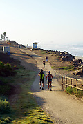 Trail Running Along the Coast in Huntington Beach California