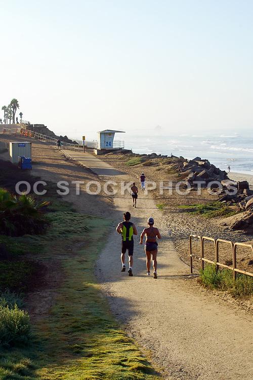 Trail Running Along the Coast in Huntington Beach California
