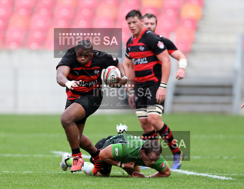 PORT ELIZABETH, SOUTH AFRICA - Saturday 25 April 2015, Lizo Gqoboka of Eastern Province Kings during the Vodacom Cup rugby match between Eastern Province Kings and SWD Eagles at the Nelson Mandela Bay stadium. <br /> Photo by Richard Huggard/ImageSA/SARU