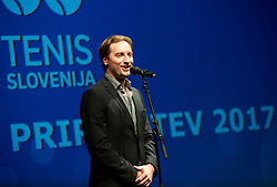 Miha Rakar during Slovenian Tennis personality of the year 2017 annual awards presented by Slovene Tennis Association Tenis Slovenija, on November 29, 2017 in Siti Teater, Ljubljana, Slovenia. Photo by Vid Ponikvar / Sportida