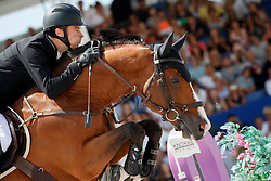Whitaker William, GBR, Utamaro D Ecaussines<br /> Rolex Grand Prix CSI 5* - Knokke 2017<br /> © Hippo Foto - Dirk Caremans<br /> 09/07/17