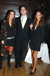 Left to right, MISS MARINA HANBURY, LORD FREDERICK WINDSOR and MISS ROSE HANBURY at a party to celebrate the publication of Andrew Robert's new book 'Waterloo: Napoleon's Last Gamble' and the launch of the paperback version of Leonie Fried's book 'Catherine de Medici' held at the English-Speaking Union, Dartmouth House, 37 Charles Street, London W1 on 8th February 2005.<br /><br />NON EXCLUSIVE - WORLD RIGHTS
