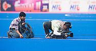BHUBANESWAR  (INDIA) -   Cameraman. Argentina vs Germany on day 3 of the Hero Champions Trophy Hockey.   Photo KOEN SUYK
