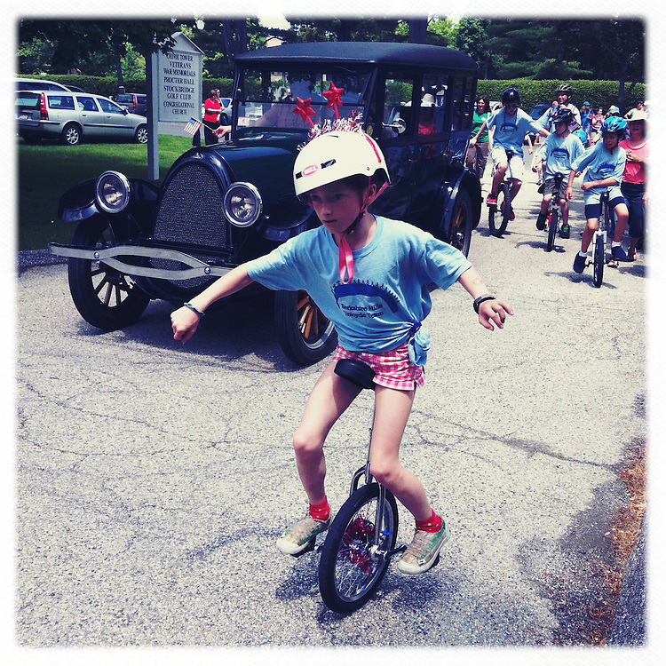 Boy on Unicycle, Memorial Day Parade