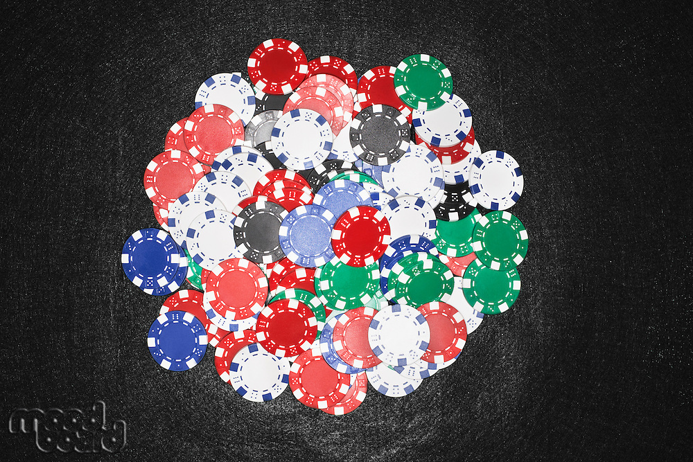 Pile of Gambling Chips