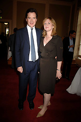 GEORGE OSBORNE MP and his wife FRANCES at a party to celebrate the publication of Sandra Howard's book 'Ursula's Stor' held at The British Academy, 10 Carlton House Terace, London on 4th September 2007.<br />
