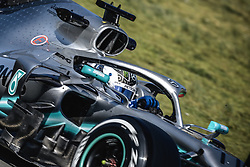February 18, 2019 - Barcelona, Catalonia, Spain - VALTTERI BOTTAS (FIN) from team Mercedes drives in his in his W10 during day one of the Formula One winter testing at Circuit de Catalunya (Credit Image: © Matthias OesterleZUMA Wire)