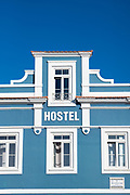Brightly coloured hostel in Aveiro, Portugal