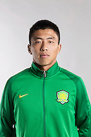 Portrait of Chinese soccer player Guo Quanbo of Beijing Sinobo Guoan F.C. for the 2017 Chinese Football Association Super League, in Benahavis, Marbella, Spain, 18 February 2017.