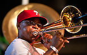 Soul Rebels Brass Band perform at the Gulf Aid Benefit Concert at Blaine Kern's Mardi Gras World