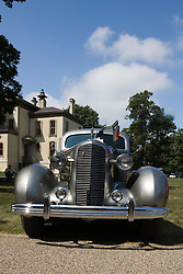 06 Aug 2011:  1936 Model 60 Cadillac owned by Carroll and Carol Lane displayed for the 15th Annual McLean County Car Association Antique Car show at David Davis Mansion, Bloomington Illinois