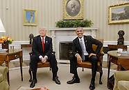 U.S. President Barack Obama meets with President-elect Donald Trump at the White House, 10 Nov. 2016