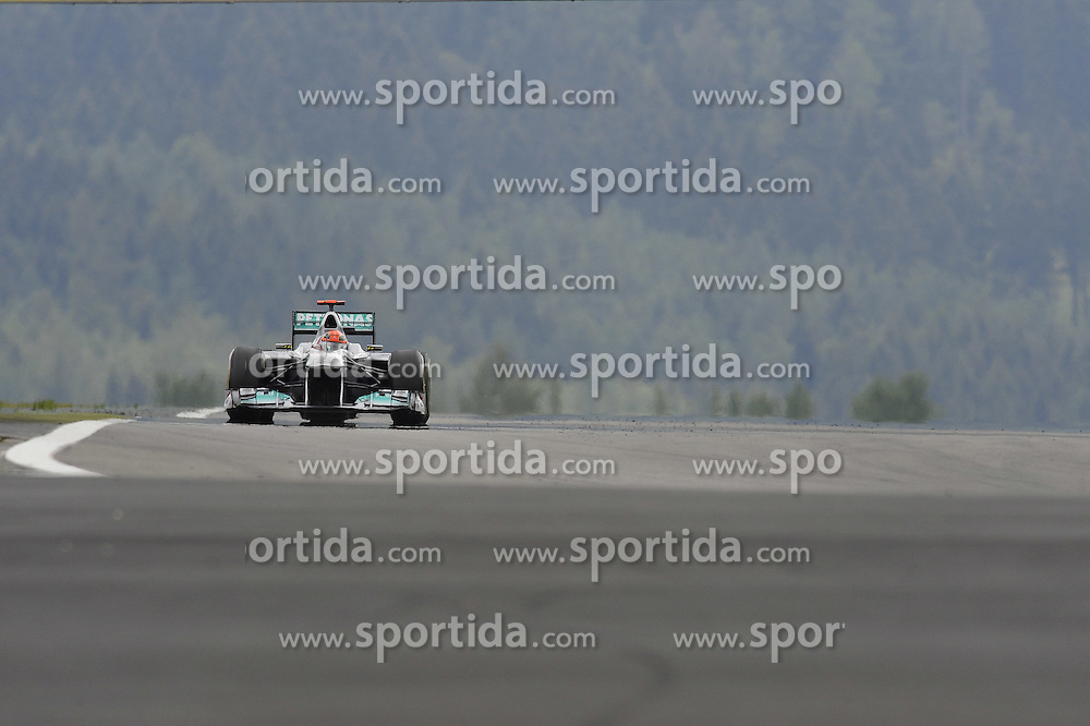 22.07.2011, Nuerburgring, Adenau, GER, F1, Grosser Preis von Deutschland, Nürburgring, zweites freies Training , im Bild Michael Schumacher (GER), Mercedes GP   // during Formula One Championships 2011 German Grand Prix held at the Nuerburgring, Adenau, Germany, 22/7/2011   EXPA Pictures © 2011, PhotoCredit: EXPA/ nph/  Dieter Mathis       ****** out of GER / CRO  / BEL ******