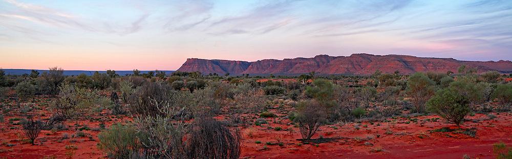 sunset at Kings Canyon NT