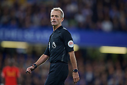 LONDON, ENGLAND - Friday, September 16, 2016: Referee Martin Atkinson during the FA Premier League match between Chelsea and Liverpool at Stamford Bridge. (Pic by David Rawcliffe/Propaganda)