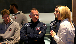 Bristol Flyers coach Nick Burns is interviewed at the 2017/18 season launch event at Ashton Gate - Mandatory by-line: Robbie Stephenson/JMP - 11/09/2017 - BASKETBALL - Ashton Gate - Bristol, England - Bristol Flyers 2017/18 Season Launch
