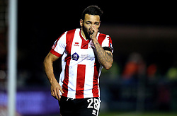 Nathan Arnold of Lincoln City celebrates scoring the winning goal against Ipswich Town - Mandatory by-line: Robbie Stephenson/JMP - 17/01/2017 - FOOTBALL - Sincil Bank Stadium - Lincoln, England - Lincoln City v Ipswich Town - Emirates FA Cup third round replay