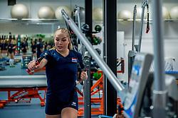 15-03-2017 NED:  Training jeugd Oranje, Arnhem<br /> Jeugd Oranje klaar voor het EK in eigen land maar eerst nog een pittige training / Charlot Vellener #9 of Netherlands