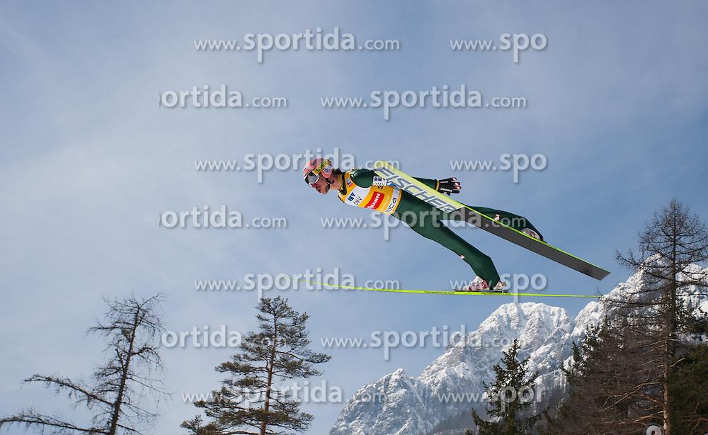 23.03.2013, Planica, Kranjska Gora, SLO, FIS Ski Sprung Weltcup, Skifliegen, Team, Probedurchgang, im Bild Martin Koch (AUT) // Martin Koch of Austria during his trial jump of the FIS Skijumping Worldcup Team Flying Hill, Planica, Kranjska Gora, Slovenia on 2013/03/23. EXPA Pictures © 2012, PhotoCredit: EXPA/ Juergen Feichter