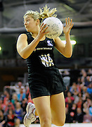 Anna Thompson in action, during New World Netball Series, New Zealand Silver Ferns v England at The ILT Velodrome, Invercargill, New Zealand. Thursday 6 October 2011 . Photo: Richard Hood photosport.co.nz