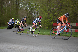 Stephanie Pohl (GER) of Cervélo-Bigla Cycling Team rides in the break during Stage 3 of the Healthy Ageing Tour - a 154.4 km road race, between  Musselkanaal and Stadskanaal on April 7, 2017, in Groeningen, Netherlands.