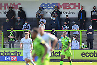Football - 2020 / 2021 EFL League Two - Forest Green Rovers vs Bradford City<br /> <br /> Fans at this test pilot match inside the ground, at the New Lawn Stadium<br /> <br /> COLORSPORT/ASHLEY WESTERN