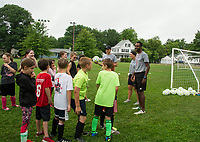 On Goal Soccer Camp at Leavitt Park sponsored by Evangelical Baptist Church in Lakeport.  Karen Bobotas for the Laconia Daily Sun
