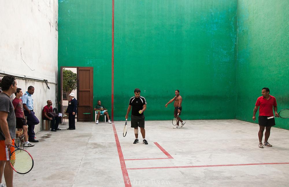 Racquetball court in Havana Vieja, Cuba