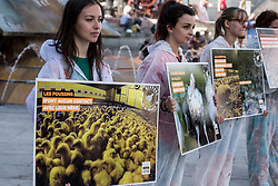 June 16, 2018 - Lyon, France - Happening of the association L214 against the hen farm in battery in Lyon, France, on June 16th, 2018. (Credit Image: © Nicolas Liponne/NurPhoto via ZUMA Press)