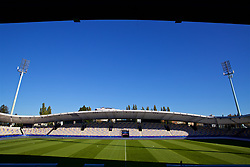 MARIBOR, SLOVENIA - Monday, October 16, 2017: A general view of NK Maribor's Stadion Ljudski vrt ahead of the UEFA Champions League Group E match between NK Maribor and Liverpool. (Pic by David Rawcliffe/Propaganda)