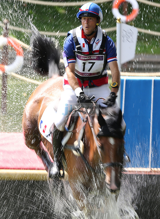 Aurelien Kahn of France jumps during the team eventing equestrian event during day 3 of the London Olympic Games London, 30 Jul 2012..(Jed Jacobsohn/for The New York Times)....