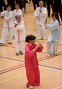 Maureen Leong from Waikato Tai Chi Academy performs as New Zealand starts the global relay celebrating World Tai Chi & Qigong Day 2007 which commences at 10am local time worldwide, Tamaki Community Centre, Glen Innes, Auckland, New Zealand on Saturday 28 April 2007. Photo: David Rowland/PHOTOSPORT