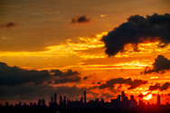 22-9-2018 NEW YORK - SUNRISE ABOVE the skyline MANHATTEN NEW YORK CITY with on the right the Empire state Building ROBIN UTRECHT