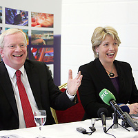 Dr Vincent Cunnane, Chief Executive, Shannon Development with Tánaiste Mary Coughlan pictured at the Shannon Development Dynamic Regions Conference in Thomand Park, Limerick on Friday to mark the companies 50th anniversary.The  conference was organised to chart future direction for regional development with a national and international panel of regional development experts.<br /> Pic. Brian Arthur/ Press 22