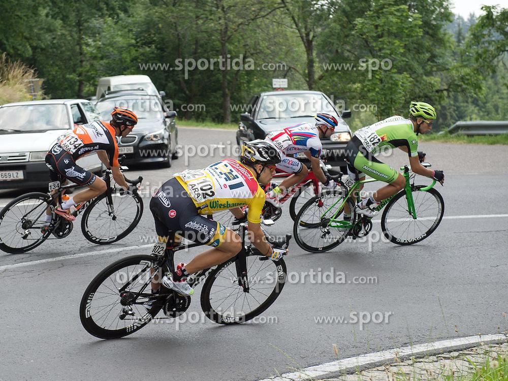 06.07.2015, Litschau, AUT, Österreich Radrundfahrt, 2. Etappe, Litschau nach Grieskirchen, im Bild Gerald Ciolek (GER, 1.Platz Gesamt) // 1st placed general Gerald Ciolek of Germany during the Tour of Austria, 2nd Stage, from Litschau to Grieskirchens, Litschau, Austria on 2015/07/06. EXPA Pictures © 2015, PhotoCredit: EXPA/ Reinhard Eisenbauer