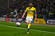 Jack Harrison of Leeds United (22) in action during the EFL Sky Bet Championship match between Preston North End and Leeds United at Deepdale, Preston, England on 9 April 2019.