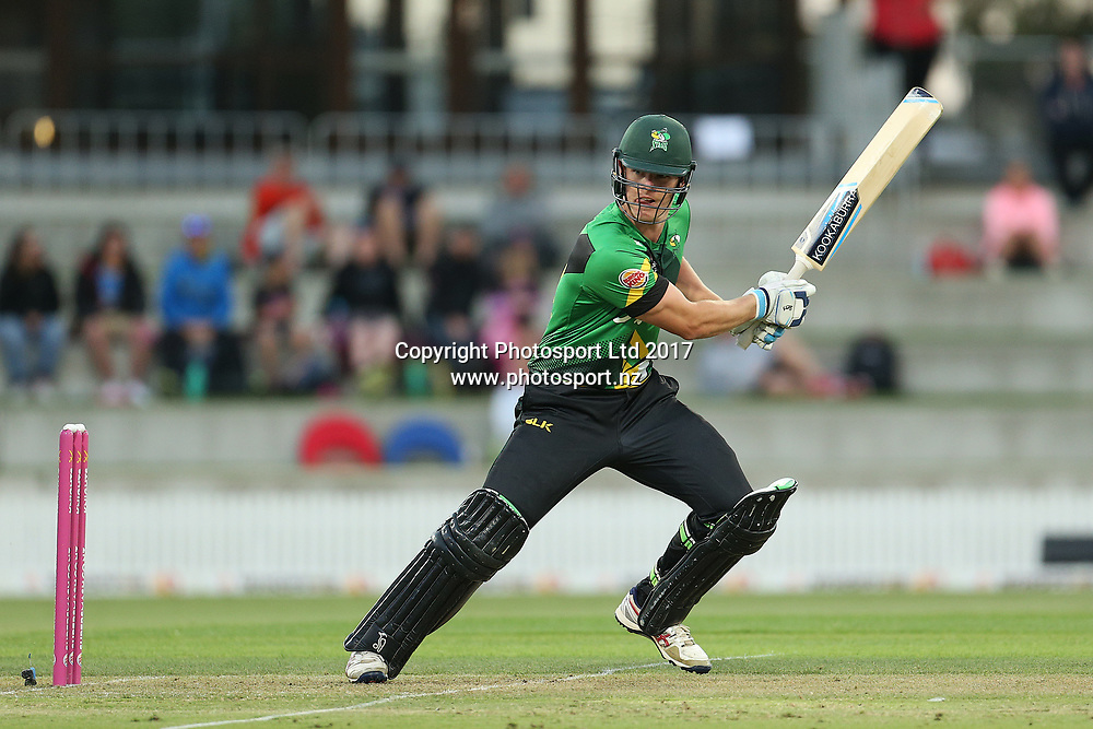 Stags Josh Clarkson batting during the Burger King Super Smash Twenty20 cricket match Knights v Stags played at Bay Oval, Mount Maunganui, New Zealand on Wednesday 27 December 2017.<br /> <br /> Copyright photo: &copy; Bruce Lim / www.photosport.nz